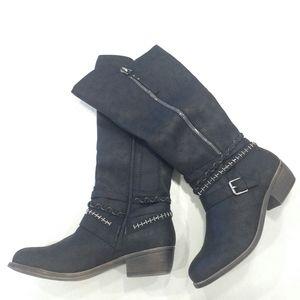 Tall Moto Boots Black